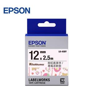 EPSON LK - 4SBY C53S654484 草莓派對款標籤帶