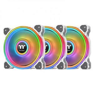 曜越 Riing Quad 12 -白色 RGB 水冷排風扇TT Premium頂級版 (三顆風扇包裝)
