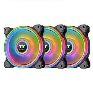 曜越 Riing Quad 12 -黑色 RGB 水冷排風扇TT Premium頂級版 (三顆風扇包裝)