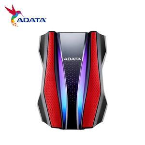 ADATA威剛 HD770G RGB 2TB(紅) 2 . 5吋軍規防水防震行動硬碟