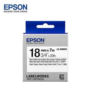 EPSON LK - 5WBVN C53S655423標籤帶(耐久18mm)白黑