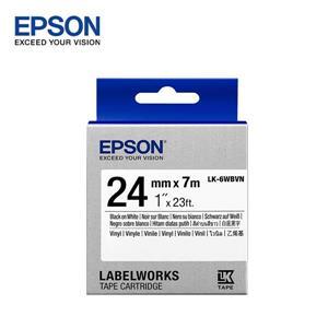 EPSON LK - 6WBVN C53S656417標籤帶(耐久24mm)白黑