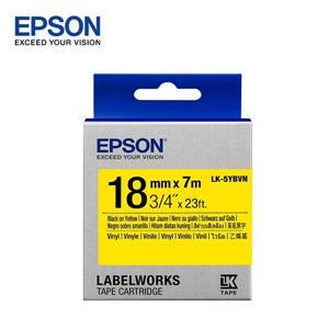 EPSON LK - 5YBVN C53S655424標籤帶(耐久18mm)黃黑