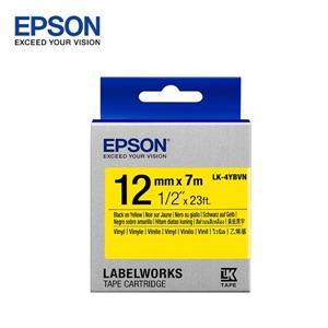 EPSON LK - 4YBVN C53S654480標籤帶(耐久12mm)黃黑