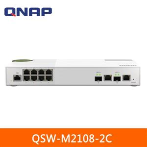 QNAP QSW - M2108 - 2C 10埠 L2 Web管理型 10 / 2 . 5GbE交換器