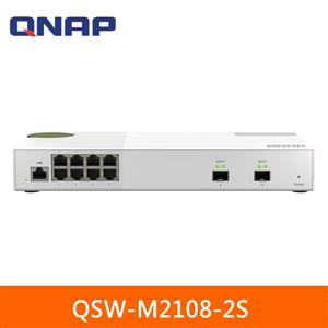 QNAP QSW - M2108 - 2S 10埠 L2 Web管理型 10 / 2 . 5GbE交換器