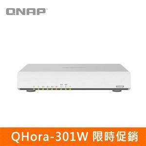 【限時促銷】QNAP QHora - 301W 新世代Wi - Fi 6 雙10GbE SD - WAN 路由器