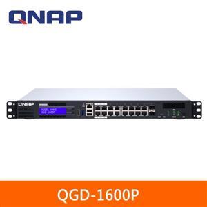 QNAP QGD - 1600P - 4G 16埠 智能終端 PoE ++ 交換器