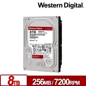 WD80EFBX 紅標Plus 8TB 3 . 5吋NAS硬碟