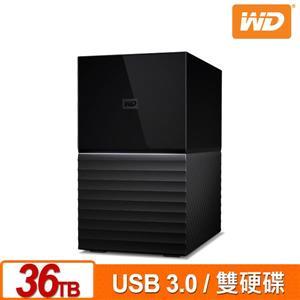 WD My Book Duo 36TB(18TBx2) 3 . 5吋雙硬碟儲存