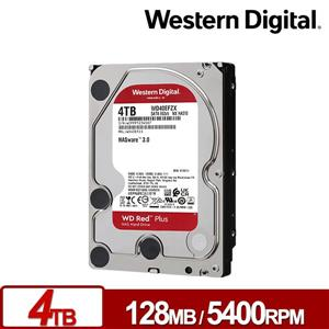 WD40EFZX 紅標Plus 4TB 3 . 5吋NAS硬碟