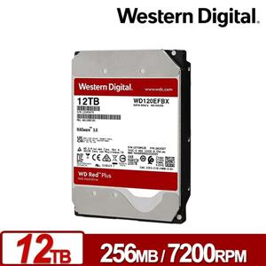 WD120EFBX 紅標Plus 12TB 3 . 5吋NAS硬碟