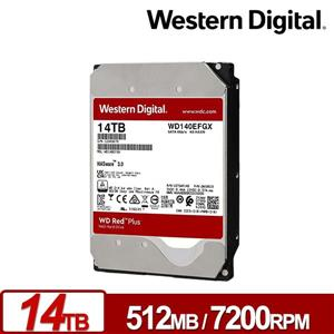 WD140EFGX 紅標Plus 14TB 3 . 5吋NAS硬碟