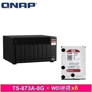 QNAP TS - 873A - 8G,附WD硬碟* 8台