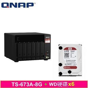 QNAP TS - 673A - 8G,附WD硬碟* 6台