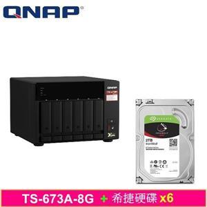 QNAP TS - 673A - 8G,附Seagate硬碟* 6台