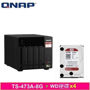 QNAP TS - 473A - 8G,附WD硬碟* 4台