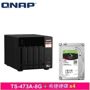 QNAP TS - 473A - 8G,附Seagate硬碟* 4台
