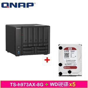 QNAP TS - h973AX - 8G,附WD硬碟* 5台