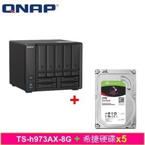 QNAP TS - h973AX - 8G,附Seagate硬碟* 5台