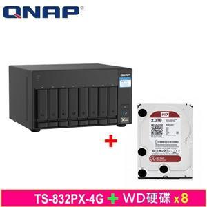 QNAP TS - 832PX - 4G,附WD硬碟* 8台