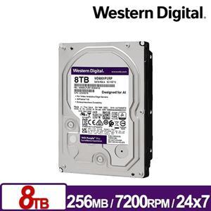 WD8001PURP 紫標Pro 8TB 3 . 5吋監控系統硬碟