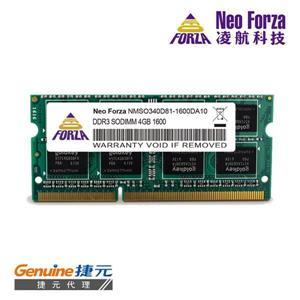 Neo Forza 凌航 NB DDR3L 1600 / 4GB 筆記型RAM(低電壓)