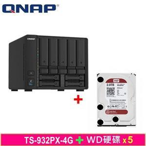 QNAP TS - 932PX - 4G,附WD硬碟* 5台