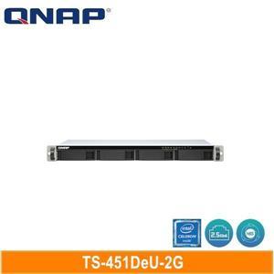 QNAP TS - 451DeU - 2G 機架式(不含滑軌,3年保)網路儲存伺服器