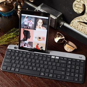 羅技 K580超薄跨平台藍芽鍵盤-石墨灰