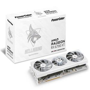 撼訊RX 6700 XT Hellhound Spetral White Edition 12G GDDR6 顯示卡